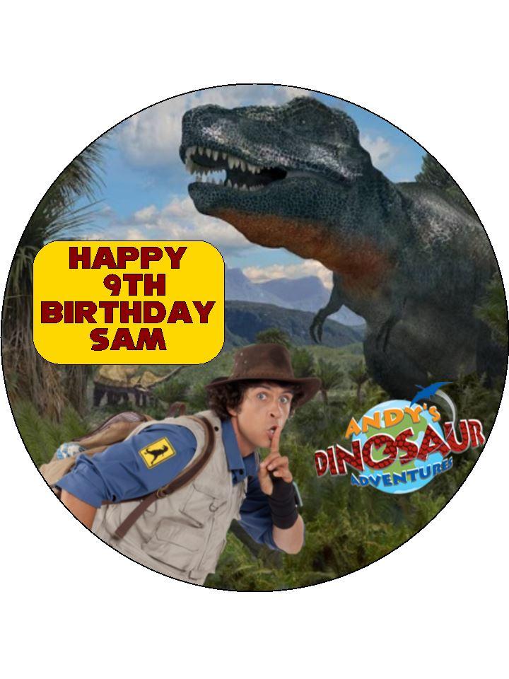Andys Dinosaur Adventure Cake Top Topcake Ireland