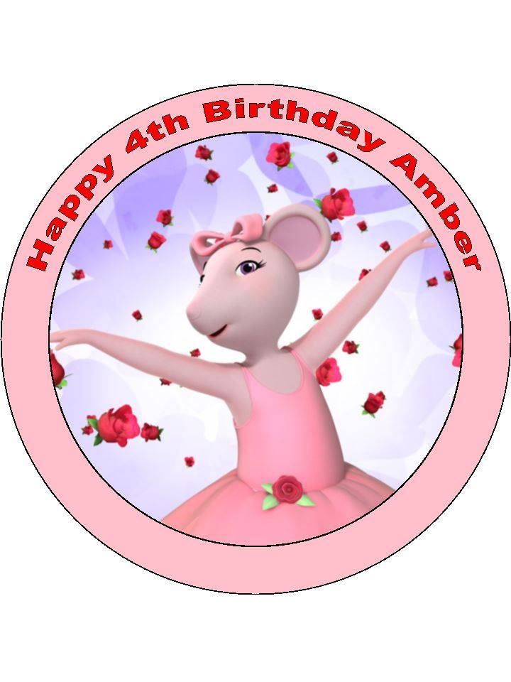 Angelina ballerina cake top topcake ireland for Angelina ballerina edible cake topper decoration sale