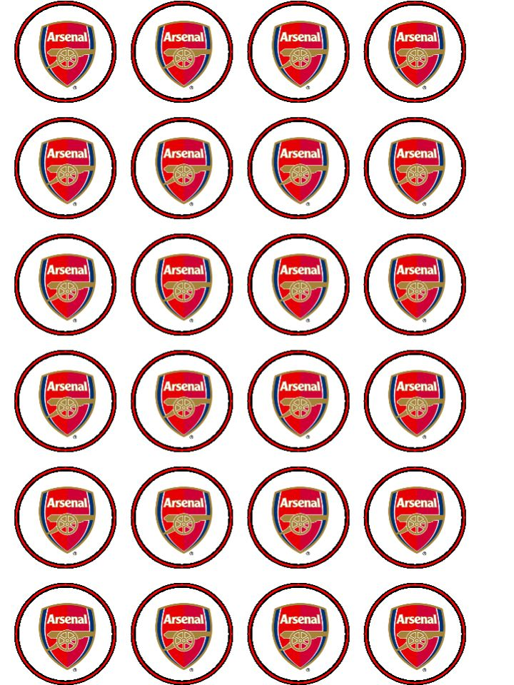 Arsenal Cake Toppers Ireland