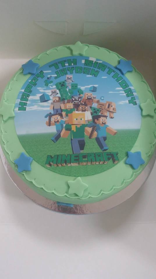 Minecraft Cake Top 8 Topcake Ireland