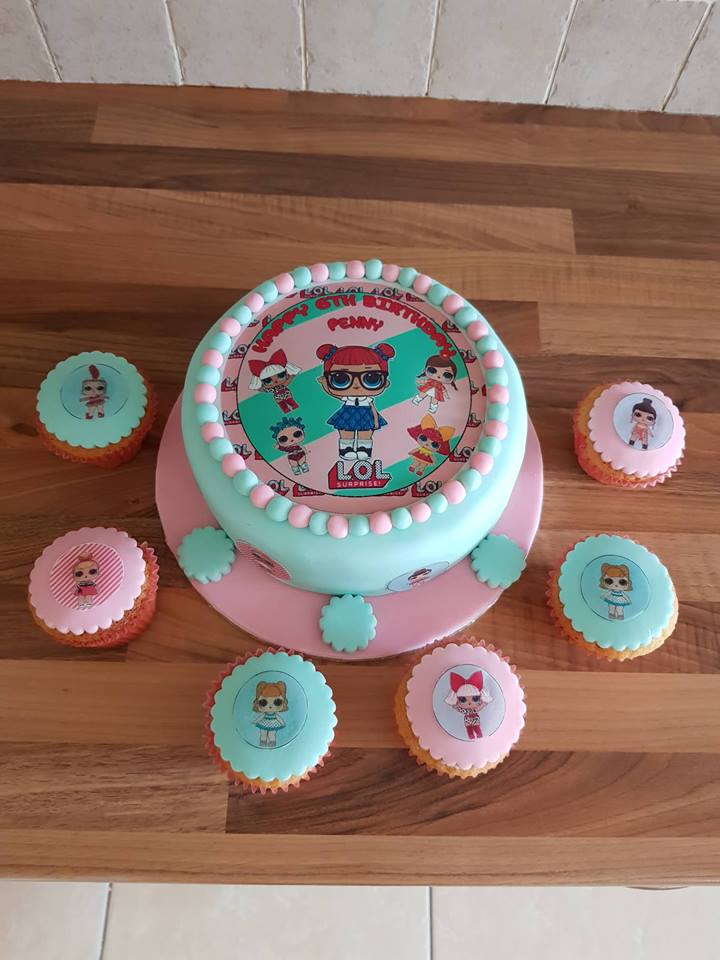 Lol Surprise Dolls Cake Top 1 Topcake Ireland