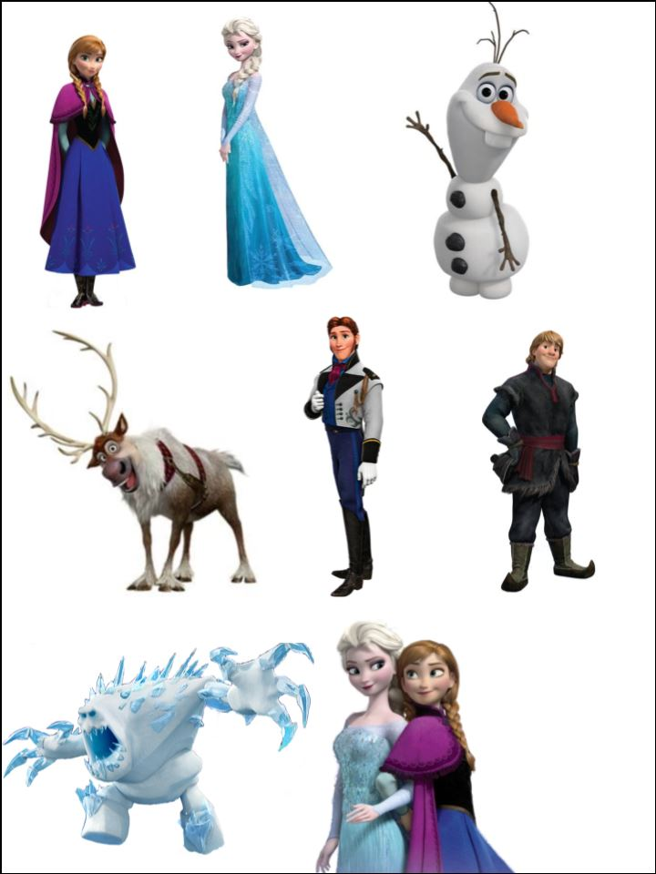 frozen stand up characters topcake ireland