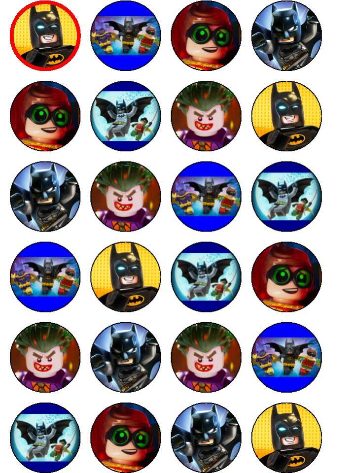 Lego Batman Cupcakes Topcake Ireland