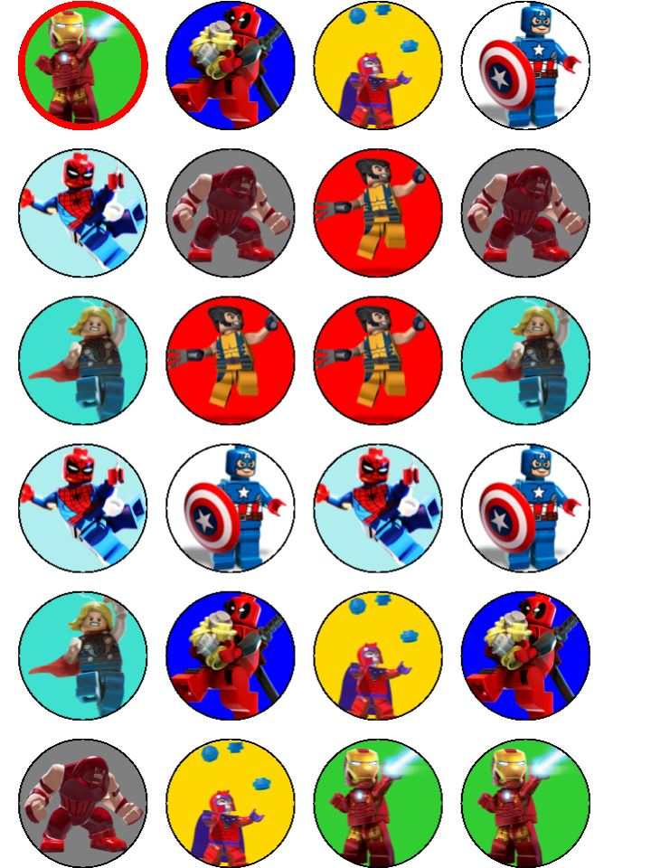 Lego Marvel Superheroes Cupcake Toppers Topcake Ireland