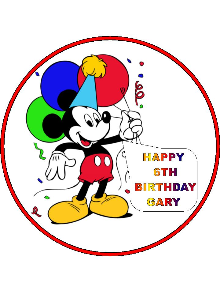 Mickey Mouse Cake Toppers Ireland