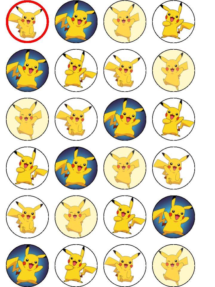 Pokemon Pikachu Cupcakes Topcake Ireland