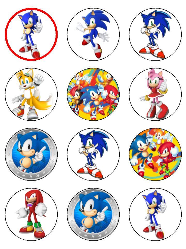 Sonic The Hedgehog Cupcakes Topcake Ireland